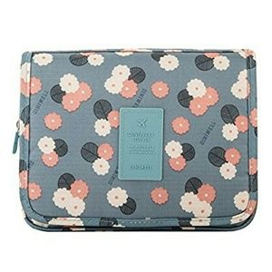 1fc86306b60d Diniwell Travel Hanging Toiletry Bag Blue Daisy
